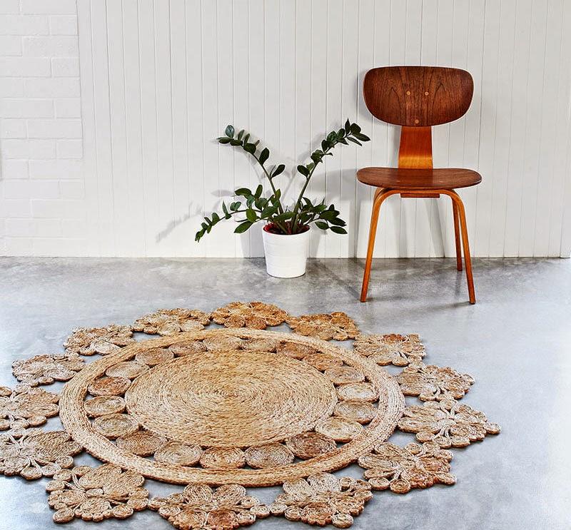 Las artesanas y sostenibles alfombras de c amo de - Alfombras de canamo ...