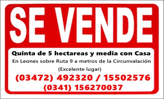 ESPACIO PUBLICITARIO: VENTA DE CASA QUINTA
