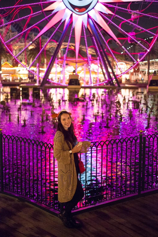 Disneyland's California Adventure Mickeys Fun Wheel at Nightime