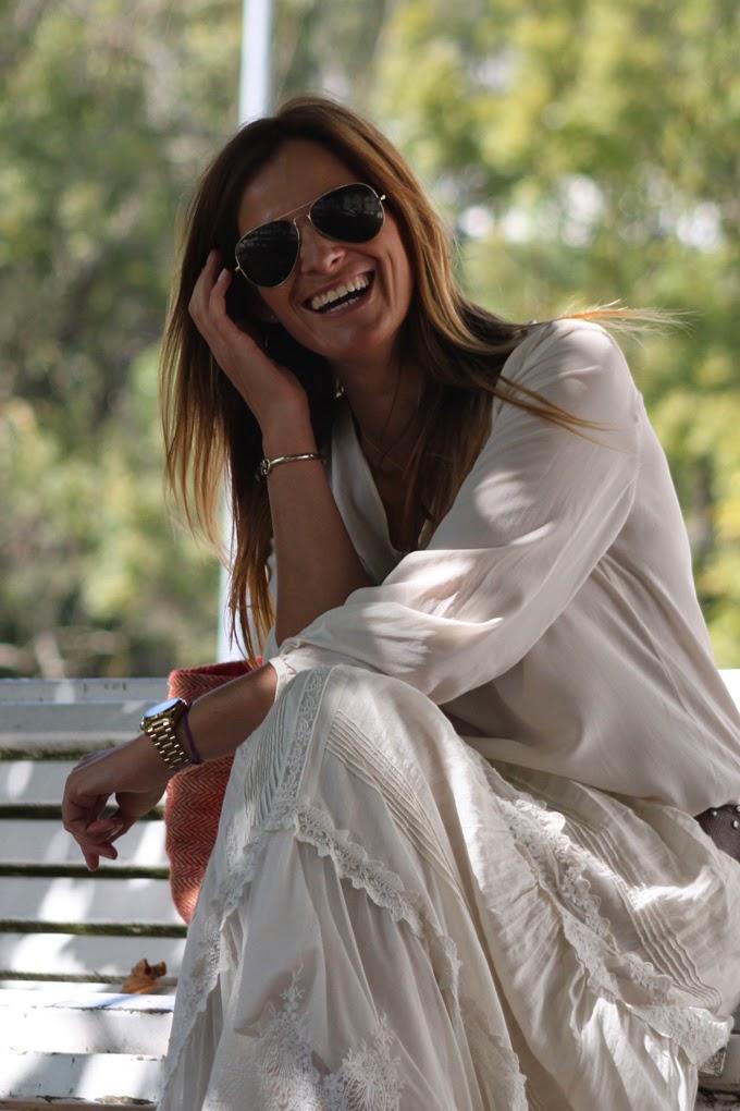 Boho Chic , romántico , Estilo , Lucía Díez , Es Cuestion de estilo , Massimo Dutti  vestido , Pedro del Hierro ,