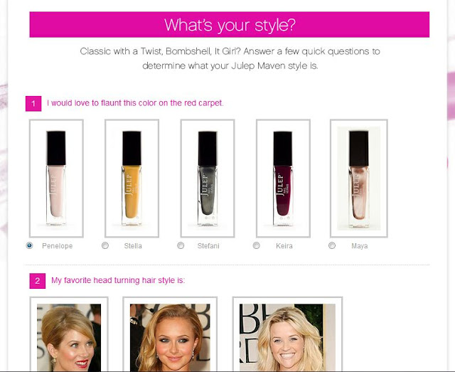 Julep, Style, Quiz, Website