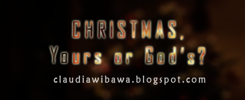 Christmas, God's Party or Your Party?