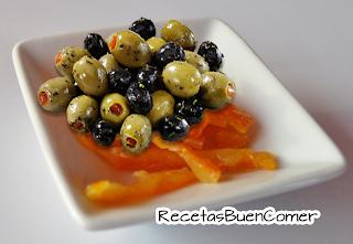 Aceitunas con Naranjas y Limón