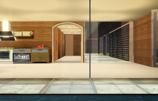[LIVING DESIGN] WOODEN BOX HOUSE THE SIMS 3 hall