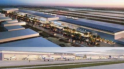 Konsep lapangan terbang Google hasil ilham artis.