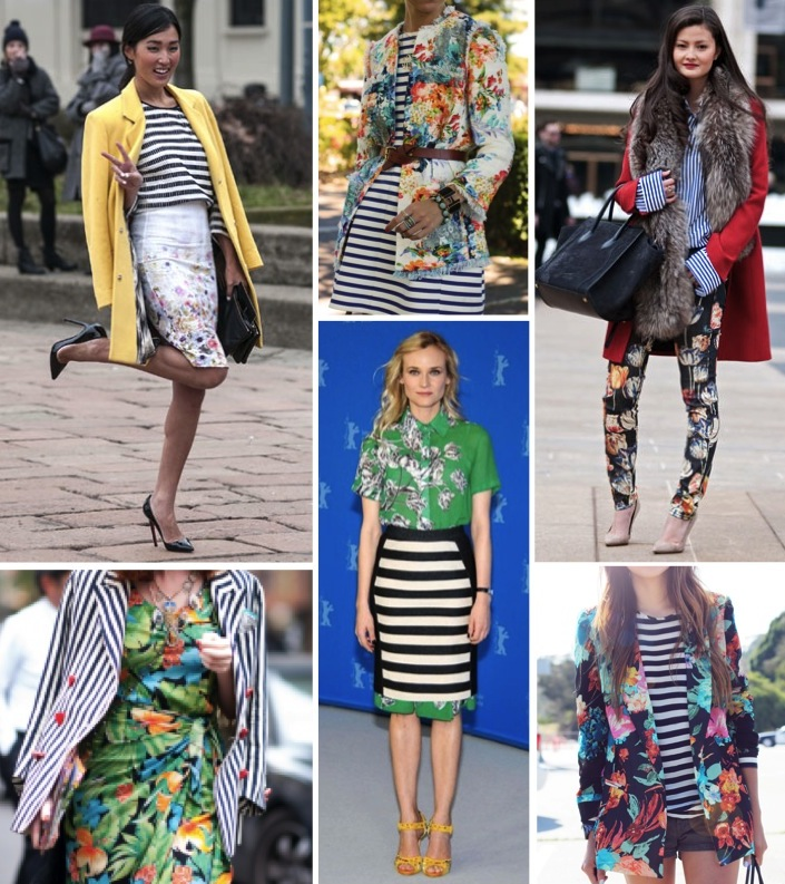 stripes and florals, fashion