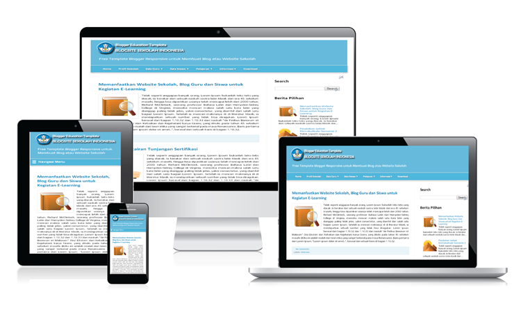 Responsive Device Education Blogger Template - Blogsite Sekolah