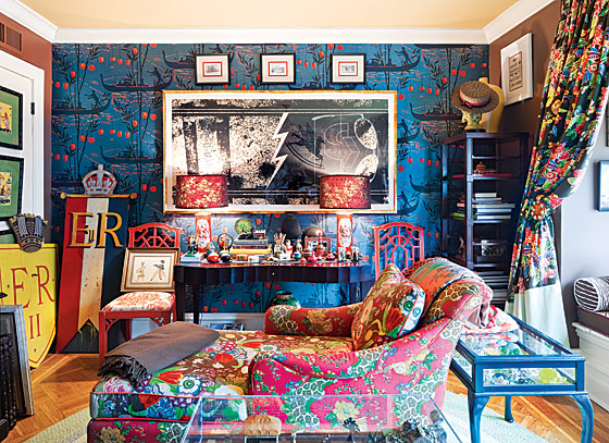 living room, eclectic design, bright, fun, modern