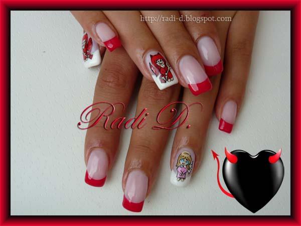 Devil design nails images devil nail art prinsesfo Choice Image