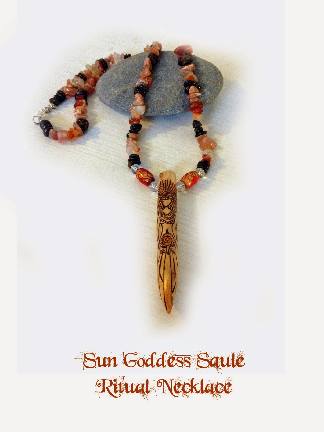 Sun Goddess Saule Ritual Necklace from MoonsCrafts