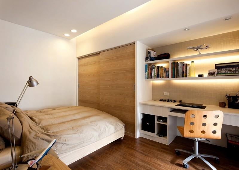 Ideas de habitaciones para j venes estudiantes - Dormitorio juvenil con escritorio ...