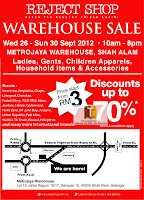 Reject Shop Warehouse Sale 2012 Shah Alam