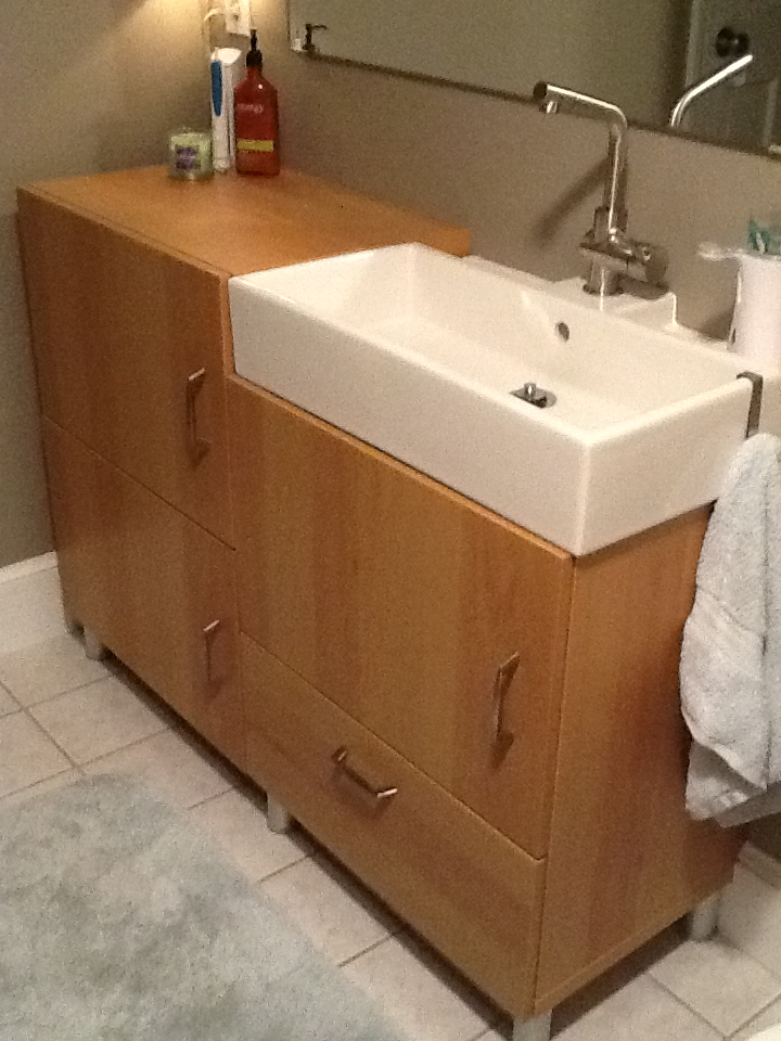 New IKEA Bathroom Vanity and Sink