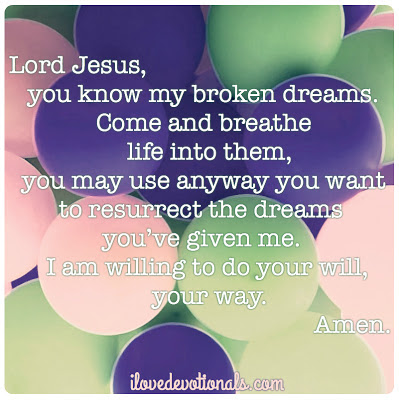 prayer for broken dreams