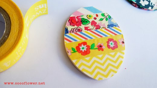 DIY BROOCH -  Cut your paper in the form of the wood chosen - www.cocoflower.net