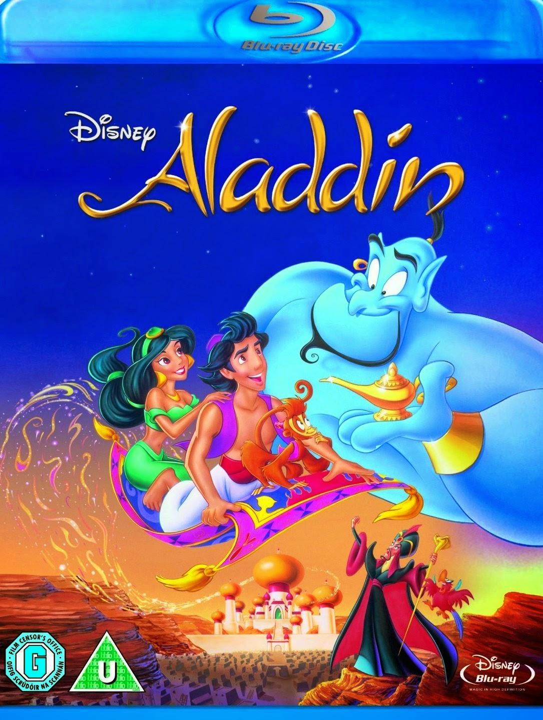ALADDIN Blu Ray Walt Disney Pictures 1992 Home Video
