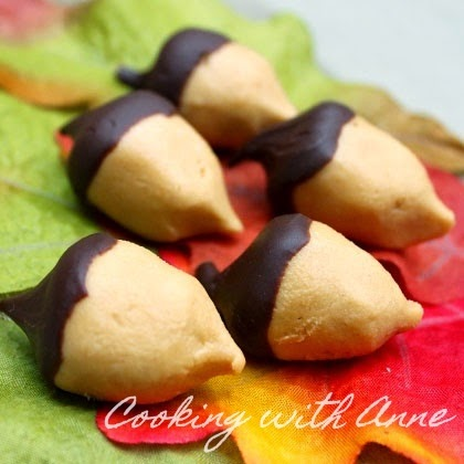 PB and Chocolate Candy Acorns