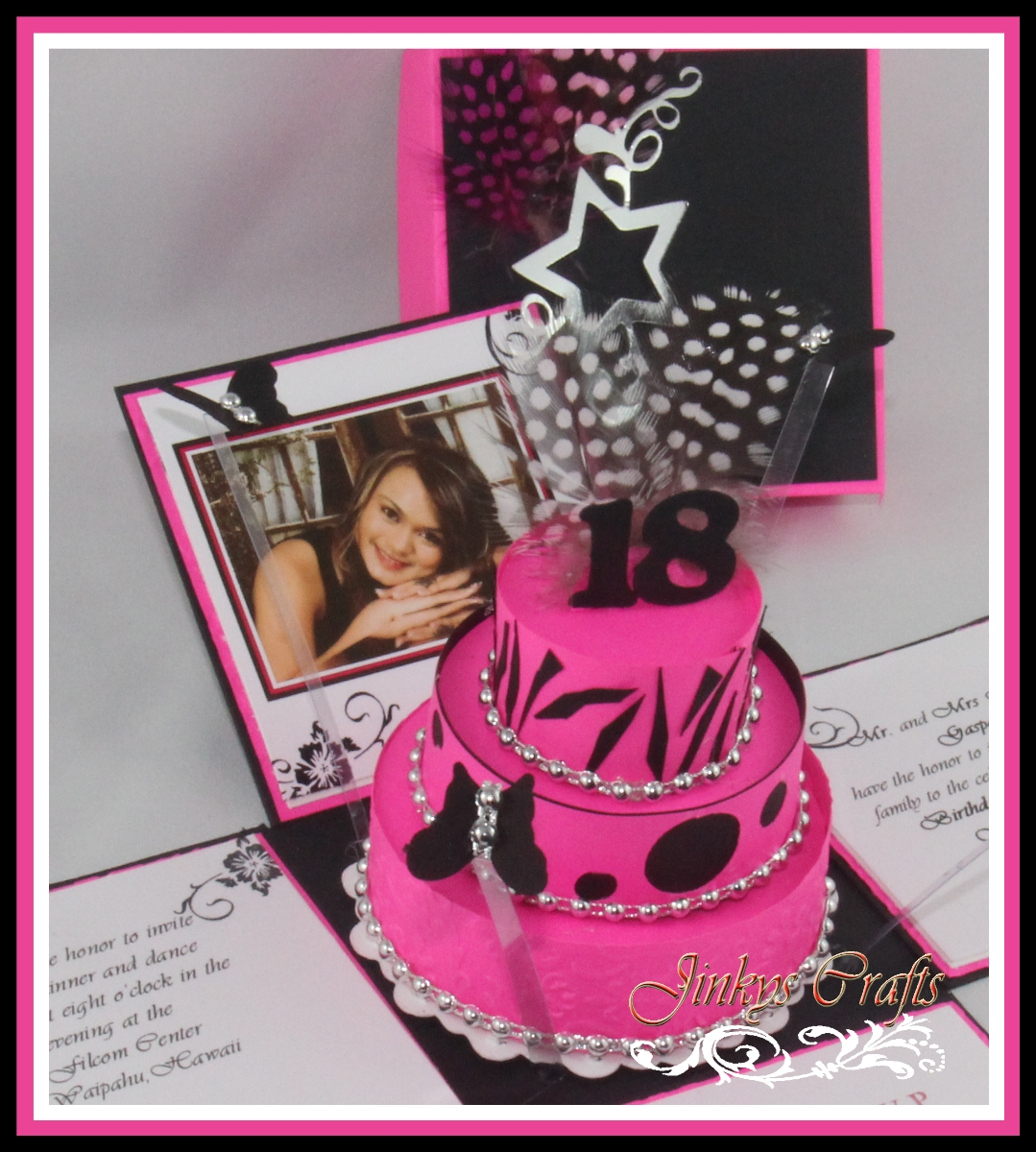 Girl 18th Birthday Cake