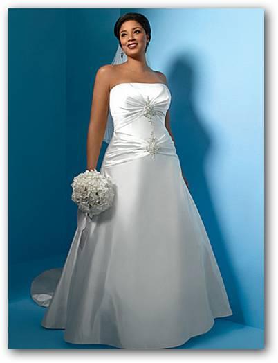 Vestidos de novia de raso para gorditas