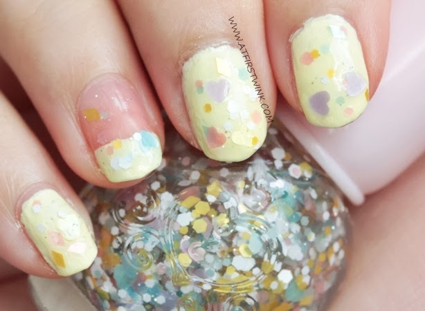 Etude House nail polish WH901 - Cotton candy kiss nail swatch
