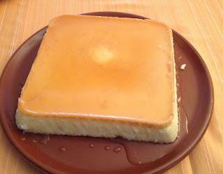 Flan de queso, receta