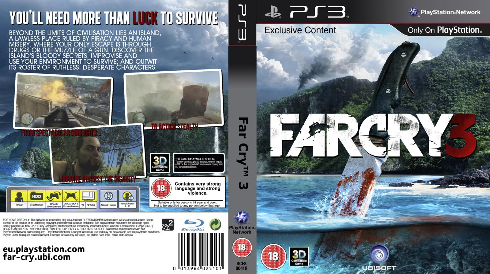 Capa Farcry 3 PS3