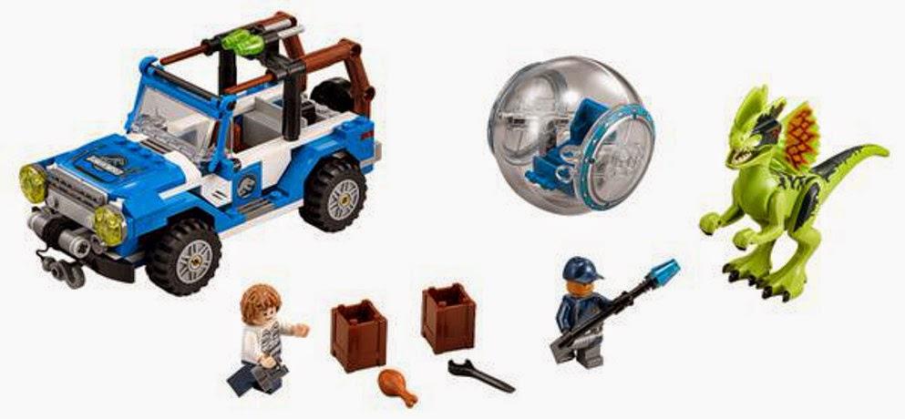 JUGUETES - LEGO Jurassic World  75916 Dilophosaurus Emboscada  Producto Oficial Película 2015 | Piezas: 248 | Edad: 6-12 años