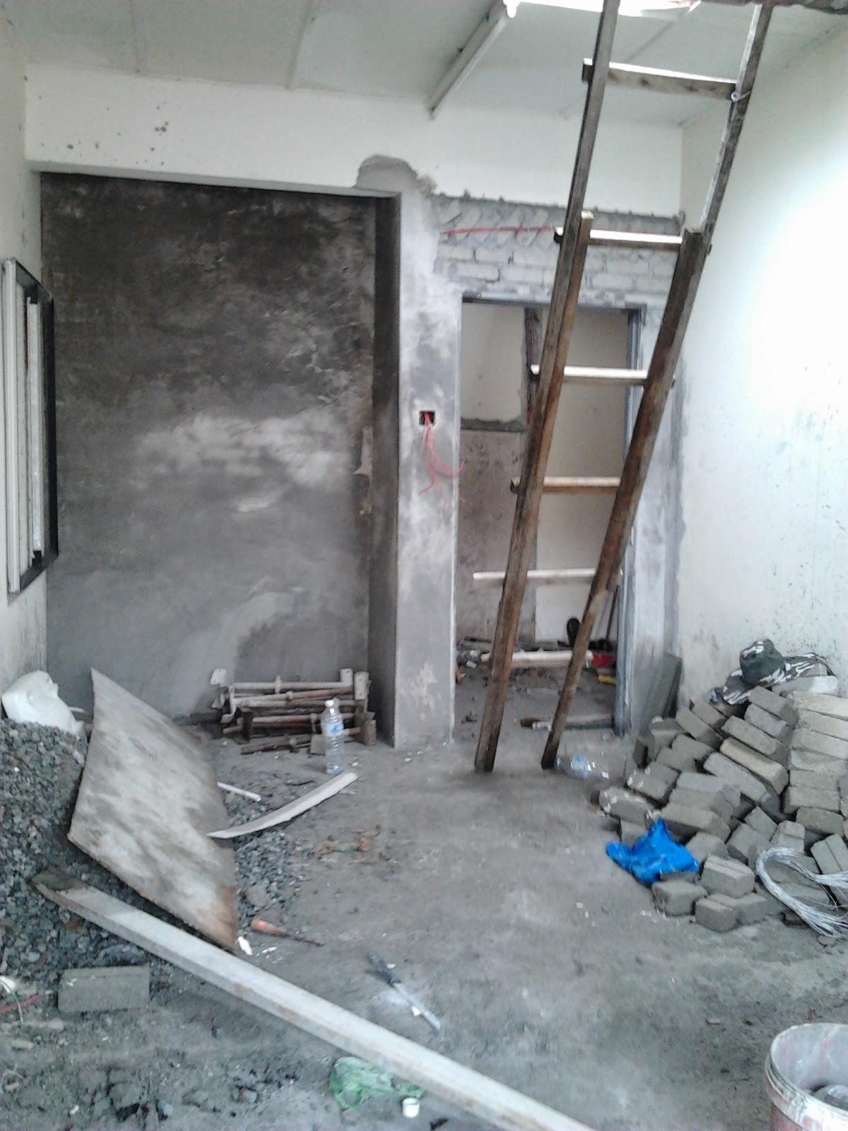 ubahsuai rumah tambah dapur dan tembok batu