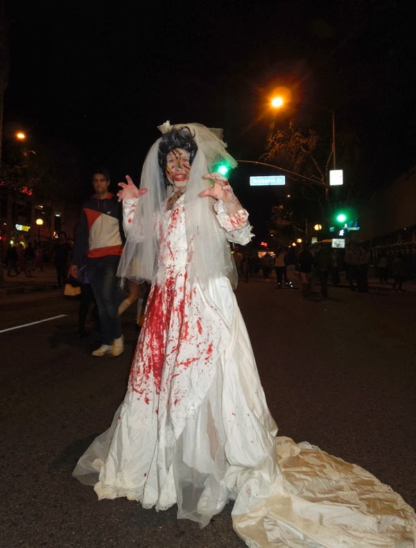 Zombie Bride West Hollywood Halloween 2013