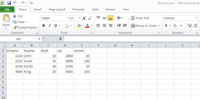 Import excel file into Oracle table using pl/sql