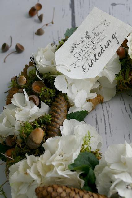 Waldkranz, Herbstkranz, Frau Annika, Lettering