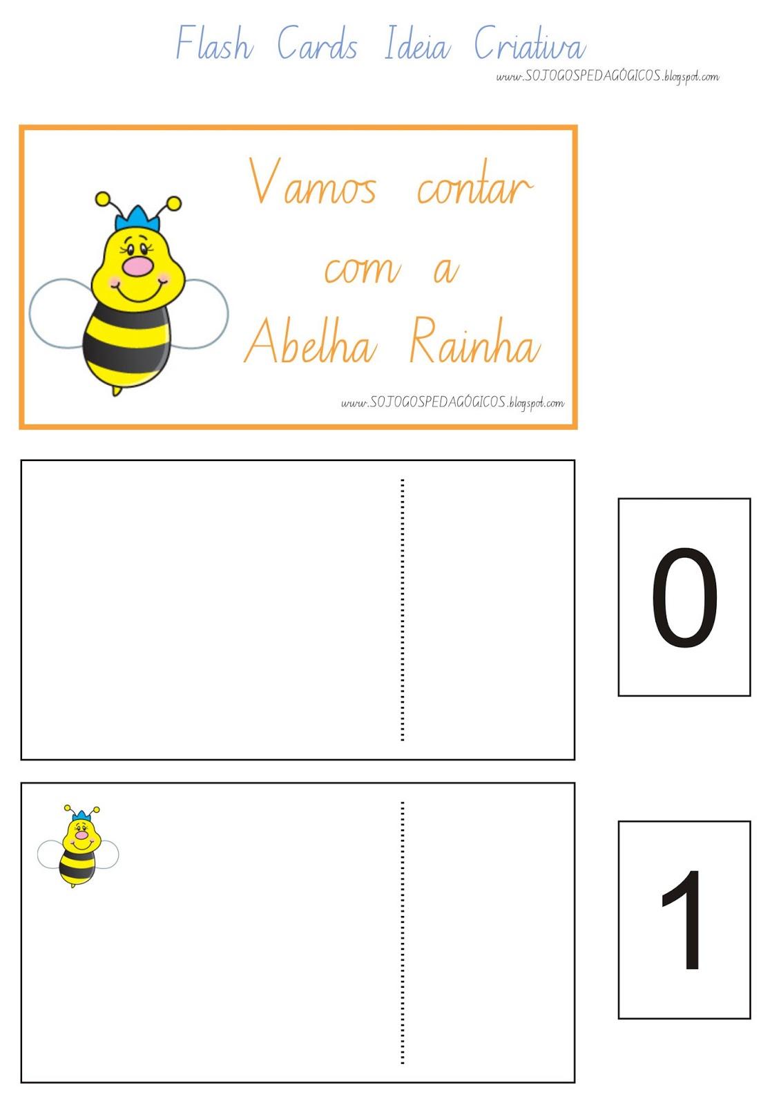 Flash Cards Número e Quantidade Abelhinhas