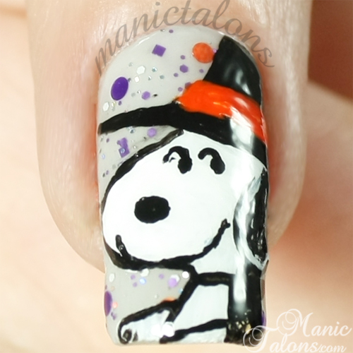 Closeup of Snoopy over Glam Polish Snoopy The Witch