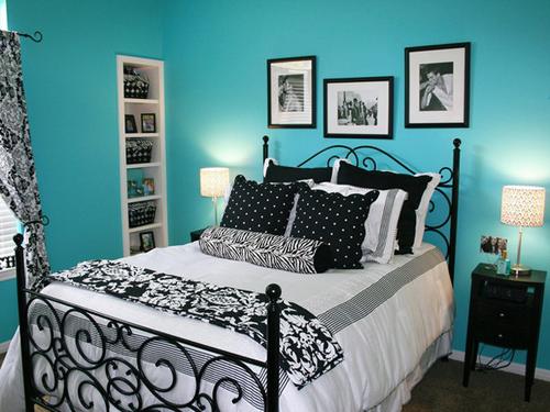 Dormitorios en turquesa y negro dormitorios con estilo for Dormitorio negro