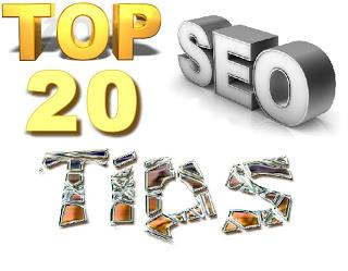 top 20 tips SEO