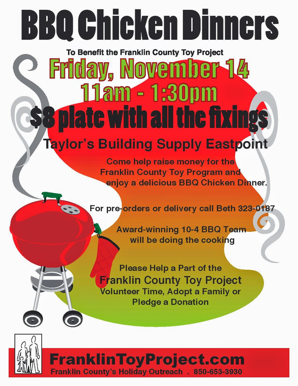 oyster radio toy project bbq chicken dinner fundraiser friday 11