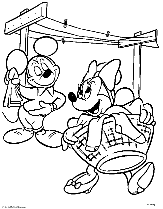 Disney Coloring Page Mickey And Minnie Mouse Pages