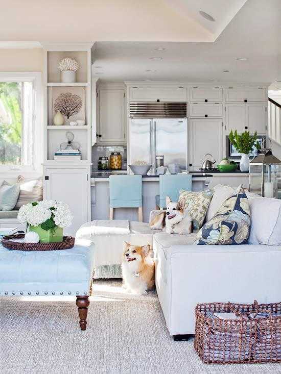 Coastal style 5 decorating tips for beach house style - Beach design living rooms ...
