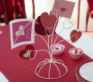 Wedding Decorations, Red Centerpieces and Arrangements 1
