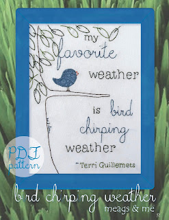 meags and me Spring Stitchery Patterns- Bird Chirping Weather