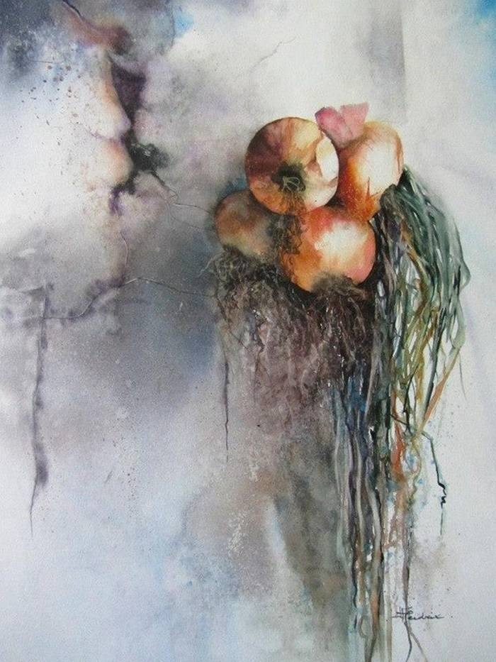 Isabelle Fournier Perdrix «Dry onions».""