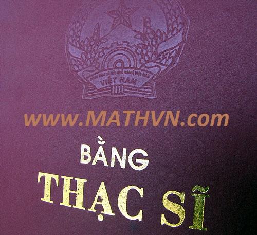 Loi bang thac si dai hoc hue