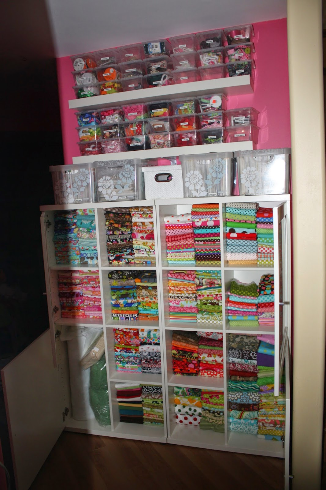 Create kids couture sewing in small spaces - Small space storage shelves model ...