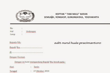 Download Surat Undangan Koperasi Terbaru 2014
