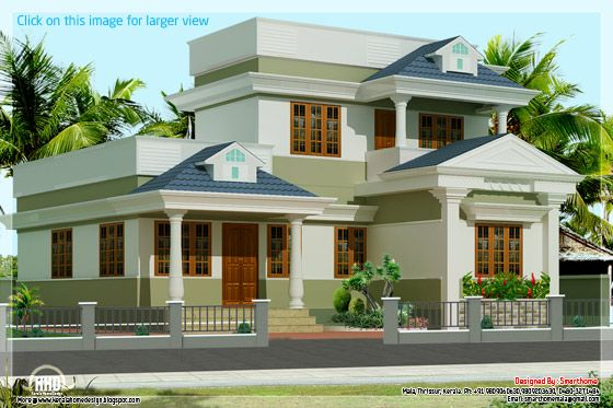 3 bedroom Kerala villa elevation Kerala home design