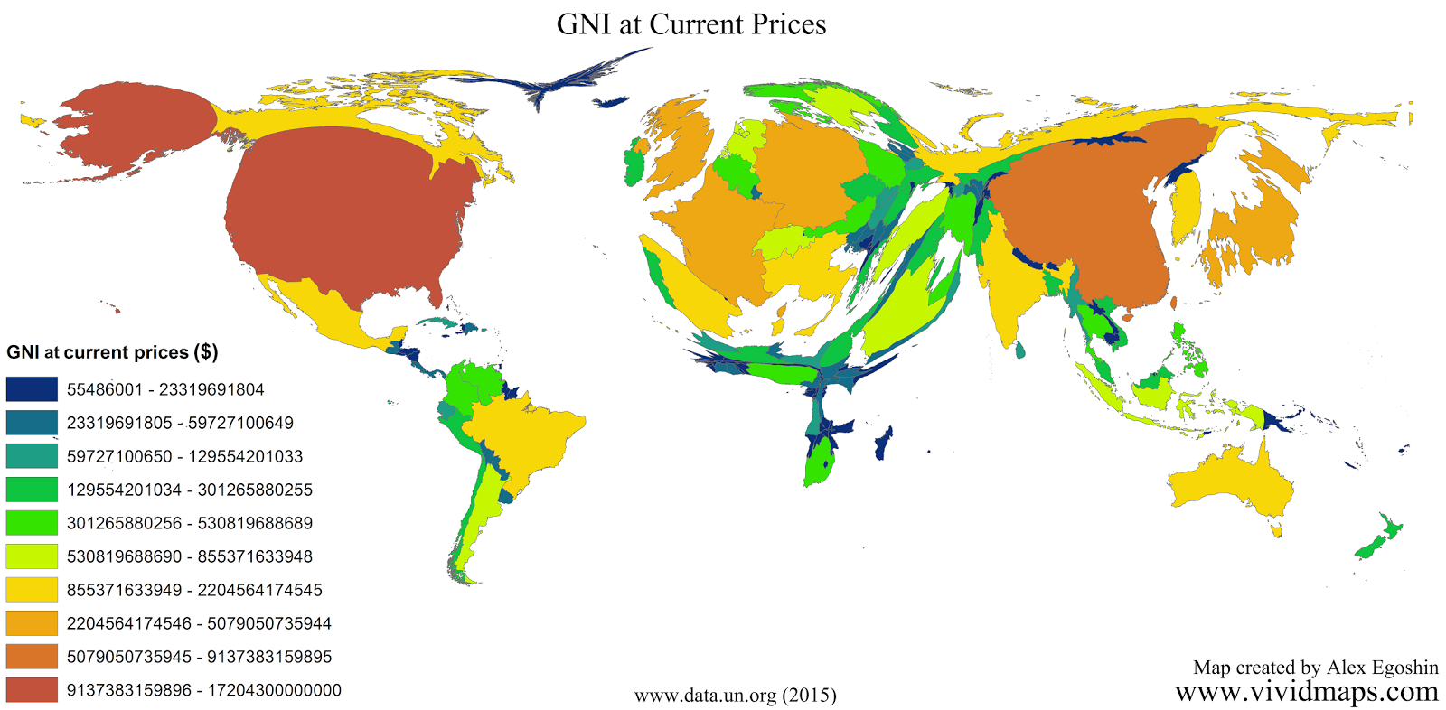 Gross national income at Current Prices (US dollars)