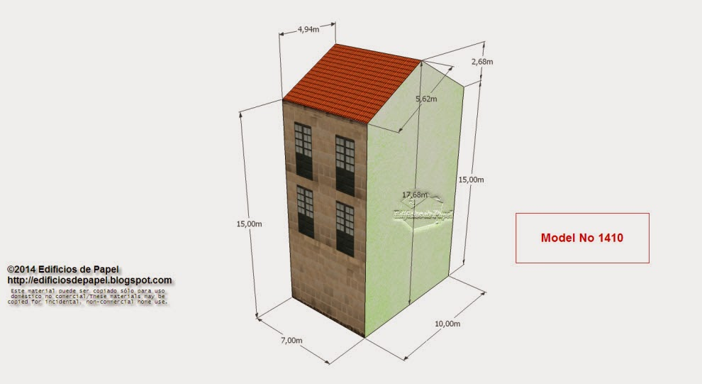 """Edficios de Papel - Modelo 1410 - Edificio Granito 5 - Serie """"Ourense"""" - """"Ourense"""" series"""