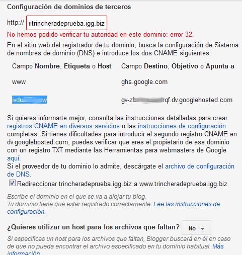 error 32 dominio usa.cc