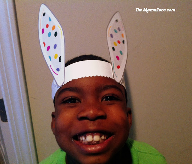 The MamaZone: Free Printable Bunny Ear Template