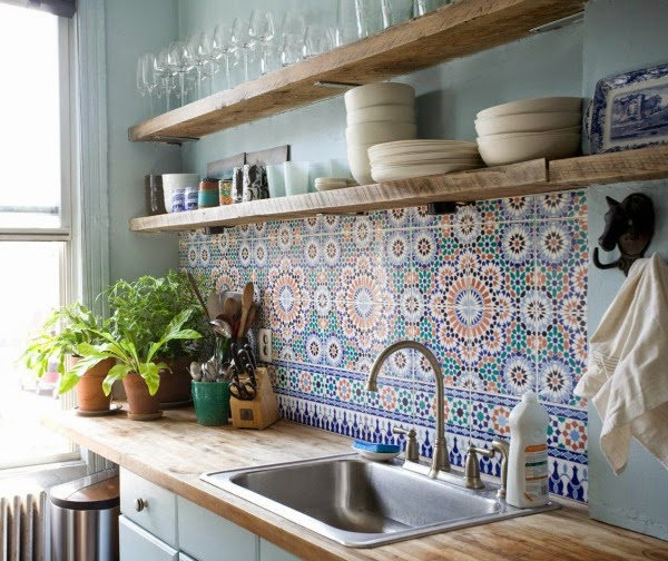 Cement tile kitchen backsplash 22 1 kindesign